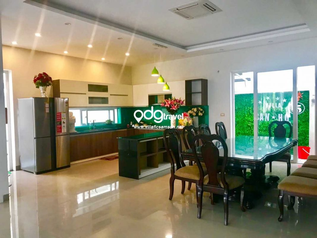 Phòng ăn villa san hô flc sầm sơn