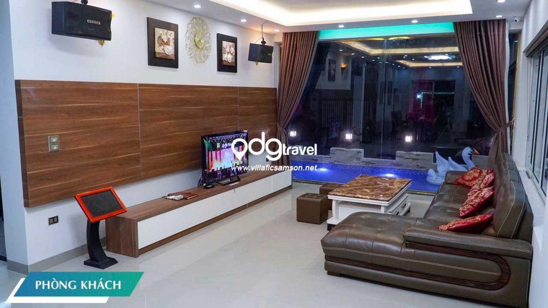 phòng khách villa san hô flc sầm sơn