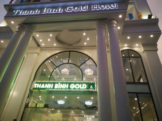 Sảnh trước khách sạn Thanh Bình Gold